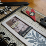 Chipboard elements are easy to use to add features to your mixed media assemblage