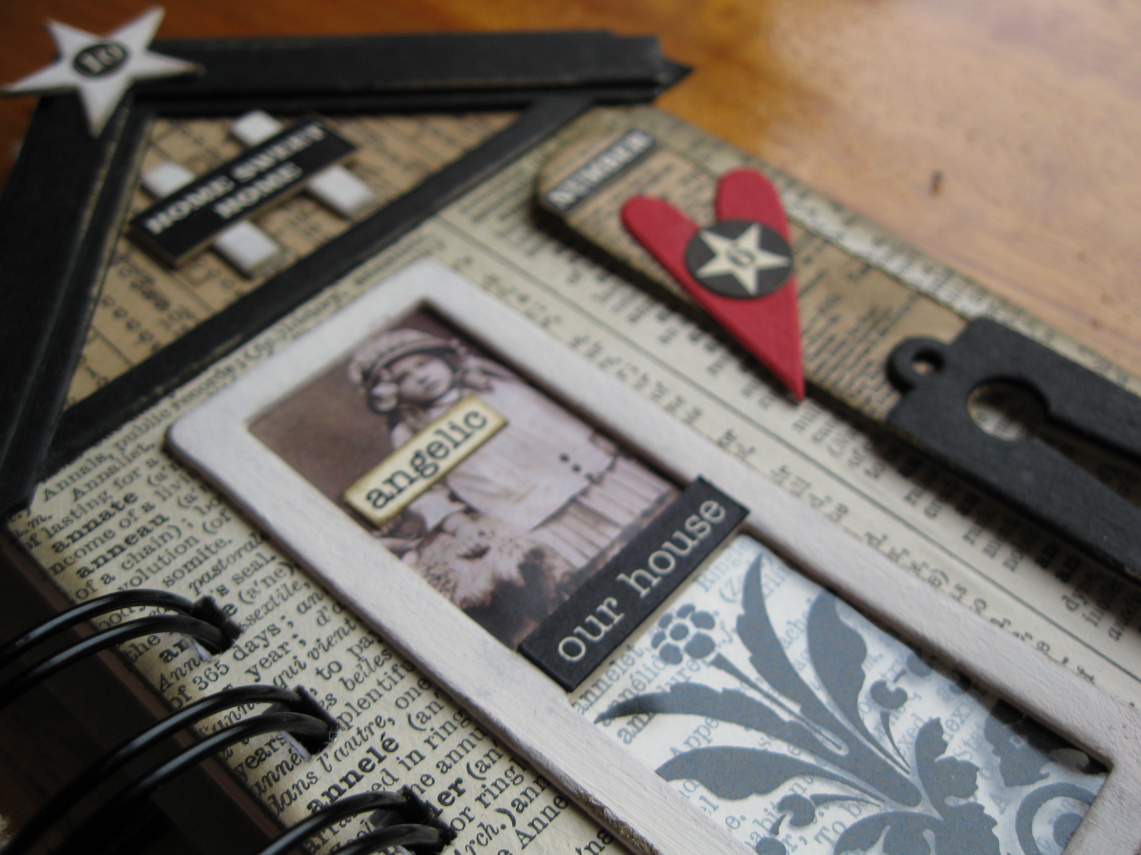 Chipboard elements are easy to use in your mixed media collages and assemblage