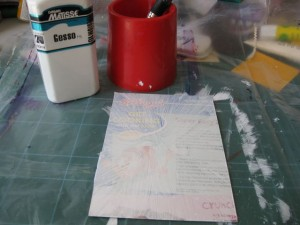 Gesso layer