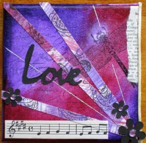mixed media art mini canvas