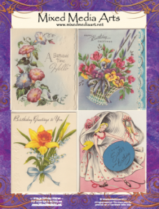 vintage birthday greeting cards