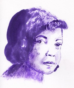 singer Sippie Wallace sketch by Francesca Albini
