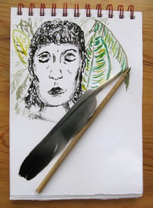 Homemade art tools and pens by Francesca Albini
