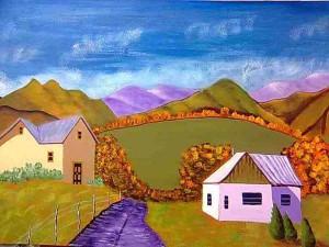 Santa Fe – New Mexico Acrylic Painting