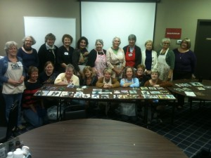 Lynne Perrella and Anne Bagby hosting the mixed media art class
