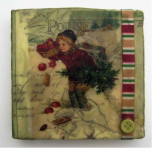 Debbie davis ephemera beeswax collage