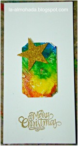using melted crayon background for gift handmade cards
