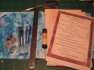 New Years reflections mixed media art journal tutorial