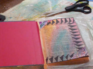 mixed media altered book