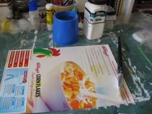 Using cereal box cardboard to make handmade gifts