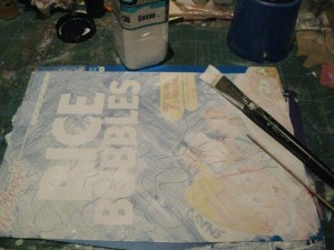 use gesso to create a good base