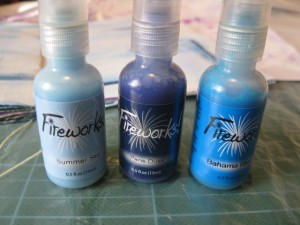 fireworks sprays also come in a range of blues