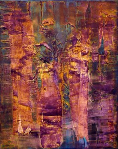 Tara Pasher and her untitled painting