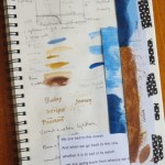 Have an art journal at hand to note down colours and materials used
