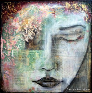 mixed media collage by Jenny Grant
