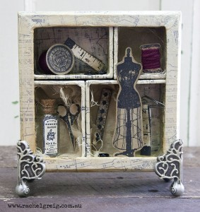 Rachel Greig has created this lovely 3D box display