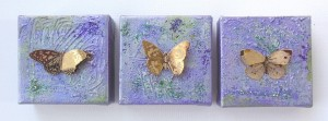 Butterfly three mini mixed media collages