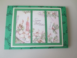 Handmade greeting cards with mixed media art epherma sheet