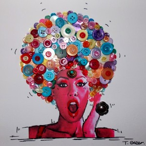 Tracy Greer's Button Art