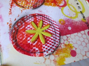 art journal gelli plates prints