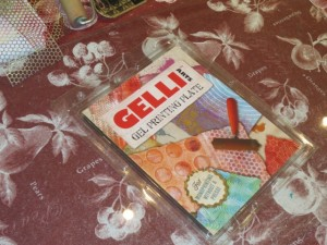 Michelle shares her gelli plate printing process