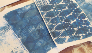 Michelle shares her gelli plate printing process with these materials