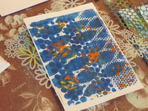 Michelle shares her gelli plate printing process with these finishing touches