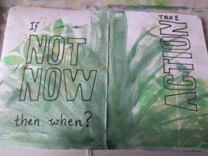 Art Journalling prompts from inspiring quotes