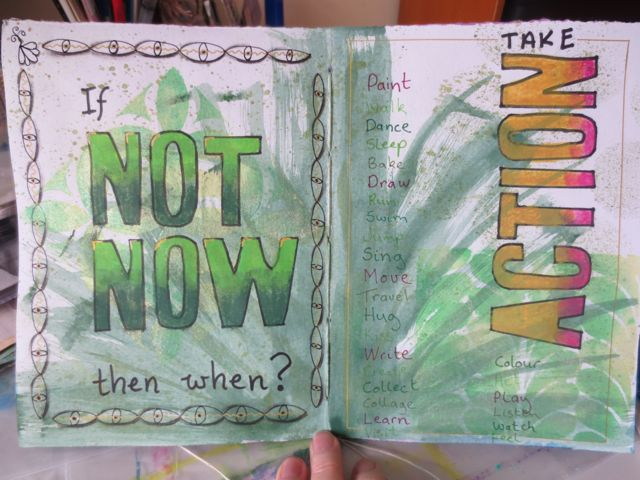 Art Journaling prompts from inspiring quotes