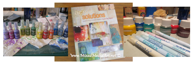 mixed media art product and book review