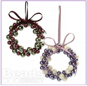Use your jewellery skills to make these lovely beaded ornaments