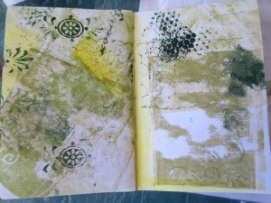 Use All-Purpose inks to add highlights and writing to mixed media art journals