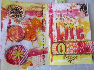 using background papers for mixed media art ideas