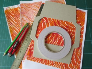 using background papers for mixed media art project ideas