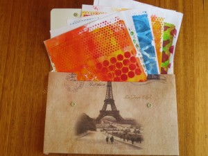 using background papers for mixed media gift ideas