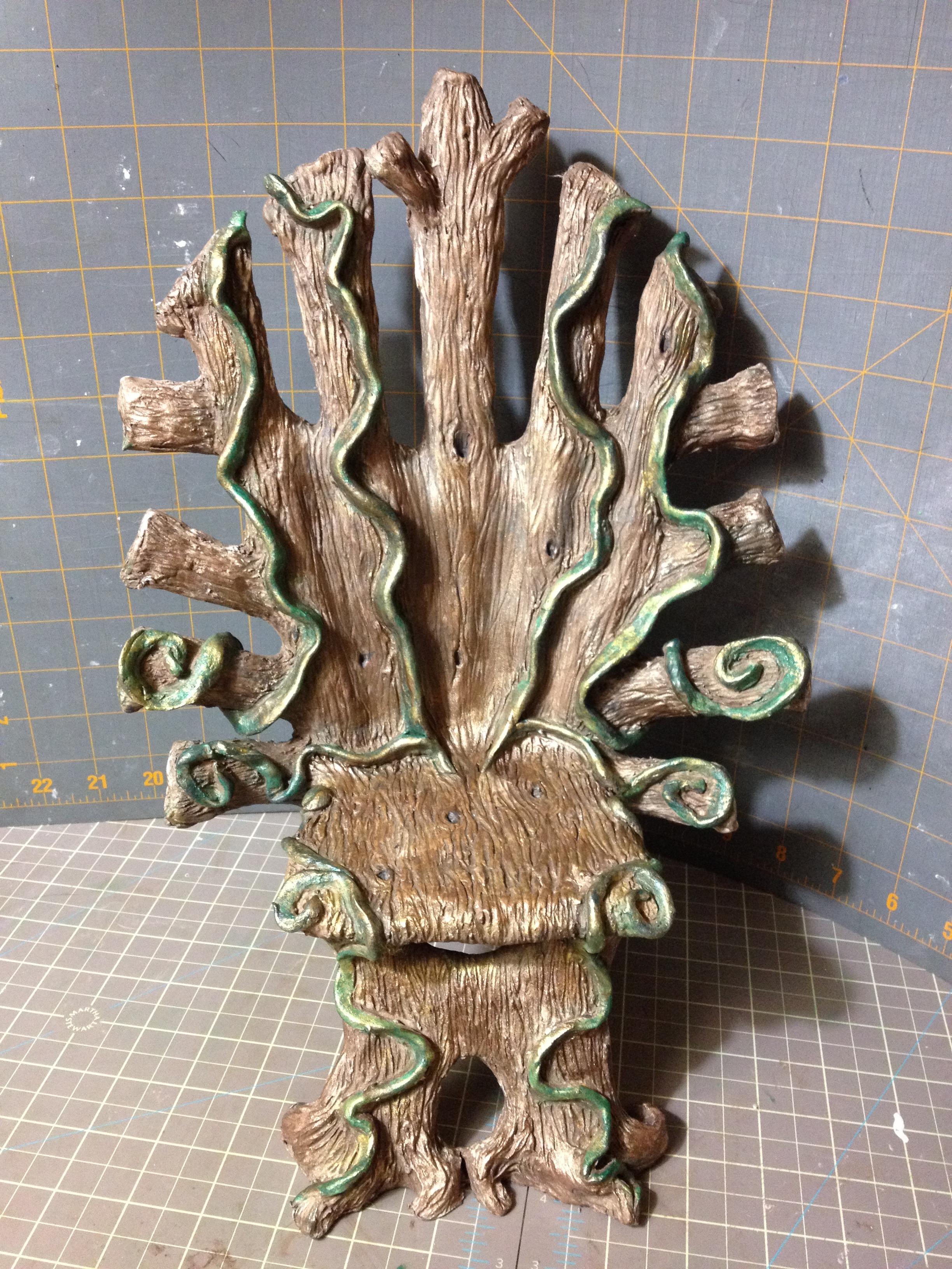 Paper Clay Sculpted Elf Fairy Throne