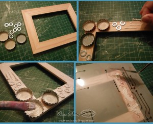 Mixed media photo frames