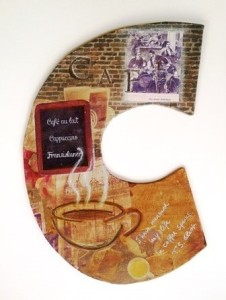 "Illuminated letter shape ""Coffee"""