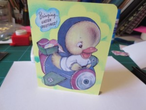 Cute vintage Easter card front