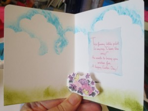 Inside of card, ready to go