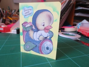 Michelle G. Brown makes a vintage Easter card