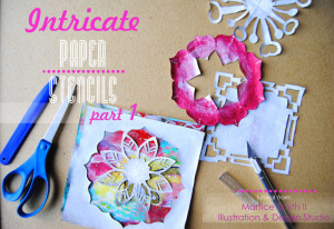 Martice Smith II shares a tutorial on how to make intricate, paper stencils using phone book paper
