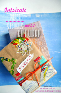 Martice Smith II demonstrates how to make your own gift wrap using intricate, paper stencils