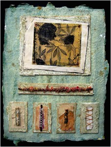 Seth Apter New York City mixed media artist creates wonderful pieces of assemblage and collage