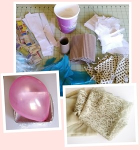 Materials for making papier mâché containers
