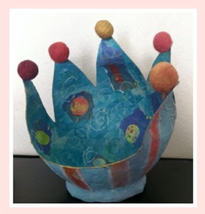 Decorated balloon bowl