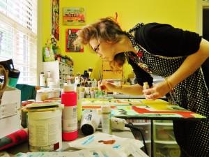 Melanie Statnick in action