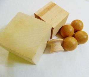 Woodblock, knobs, and balls