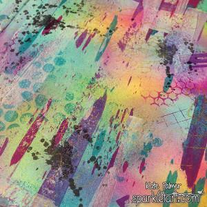 Rainbow Grunge Background Close Up 1