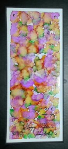 India Ink and Alcohol ink on clear acetate